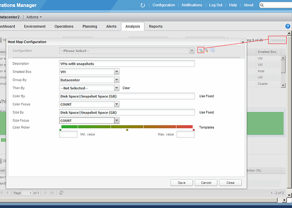 Heat map configuration in vCOps