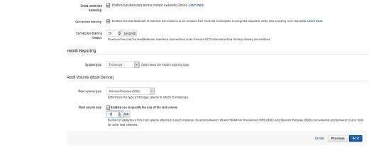 AWS Elastic Beanstalk configuration details
