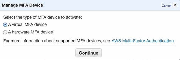 AWS MFA application
