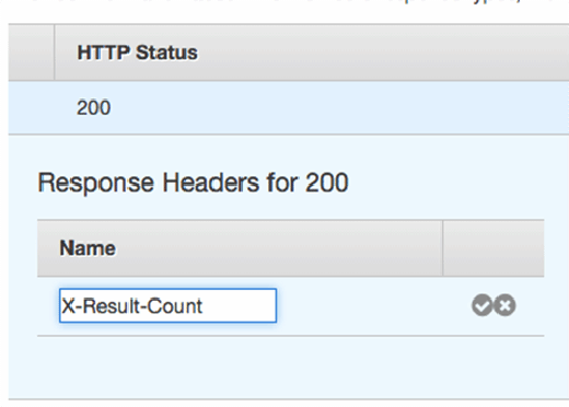 View the response header for the 200-level status code.