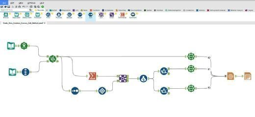 Example data workflow using the Designer data preparation tool.