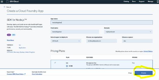Creating a Cloud Foundry app
