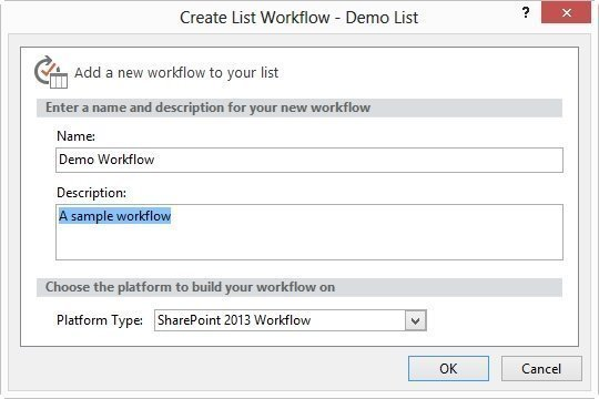 Enter a name for your new workflow
