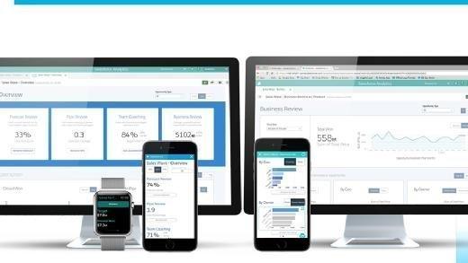 A Salesforce Wave Analytics Apps dashboard