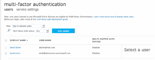 Azure Multifactor Authentication for on-premises applications and cloud services