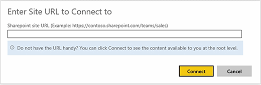 SharePoint Team Site URL box
