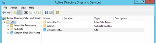 Active Directory Sites and Services