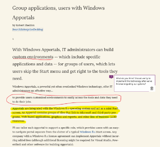 Some of the ways you can markup webpages in Edge
