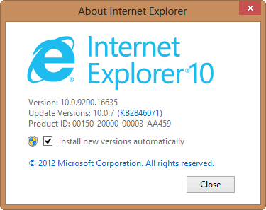 The checkbox to update IE can be misleading