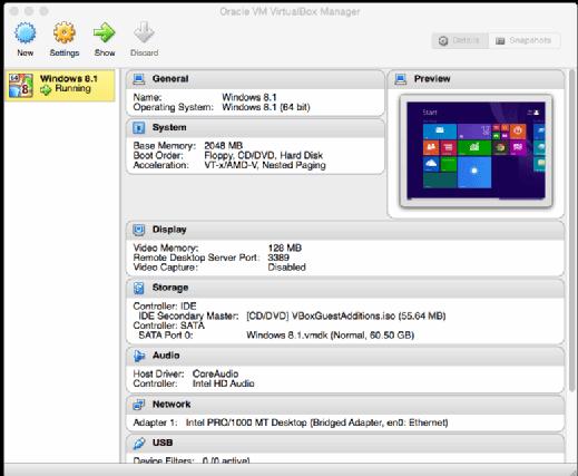 Running Windows in Oracle's VirtualBox