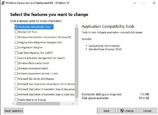 Install the Application Compatibility Tools