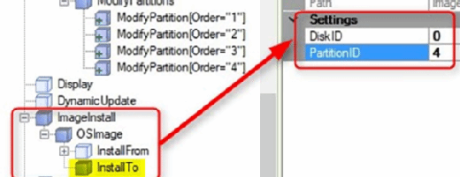 Assign a location for the OS