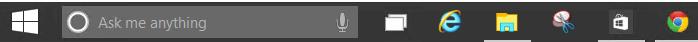 A portion of the Windows 10 taskbar