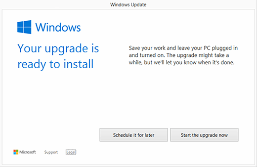 Win10 ready to install