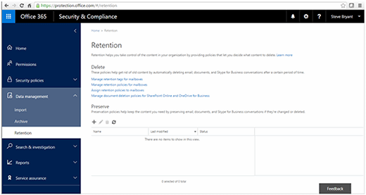 Office 365 Retention