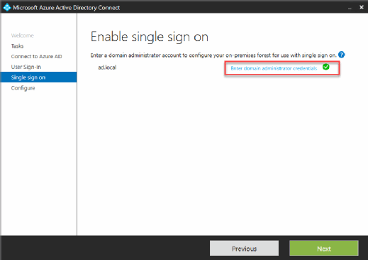 Enable single sign on