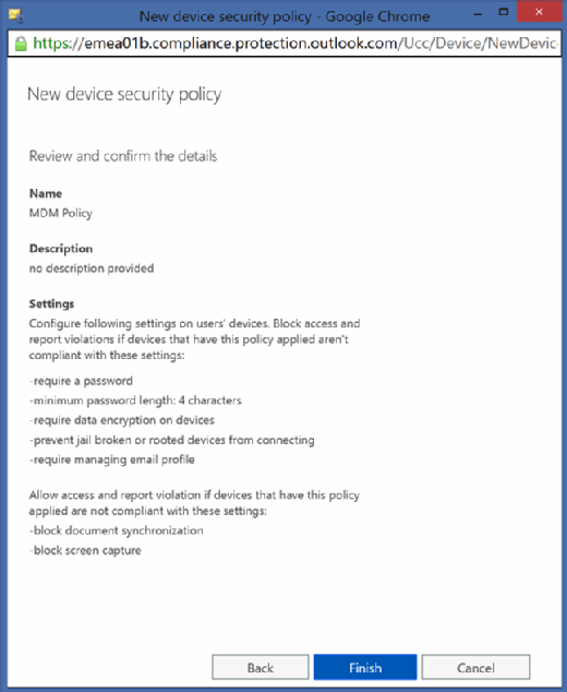New device security policy
