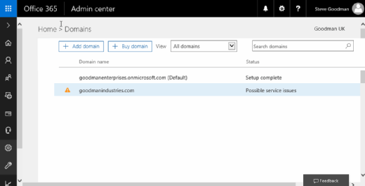 Office 365 custom domains