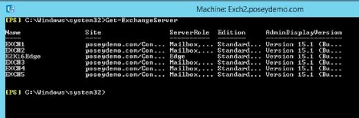 Get-ExchangeServer cmdlet.