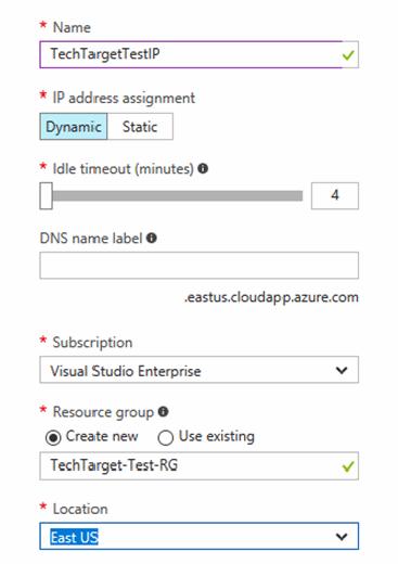 Azure VM networking