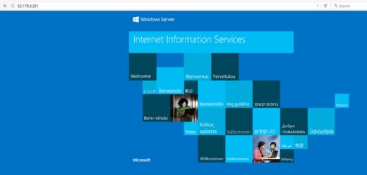 Azure VM for IIS server