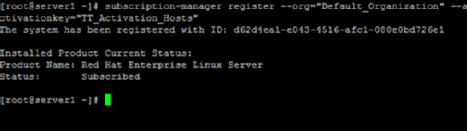 Register a Red Hat Satellite host.