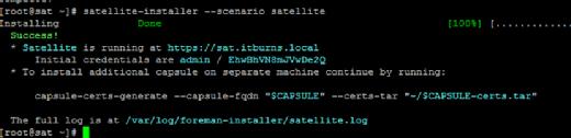 Red Hat Satellite install