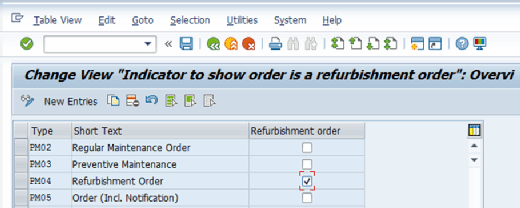 How to configure a unique order type in SAP Plant Maintenance