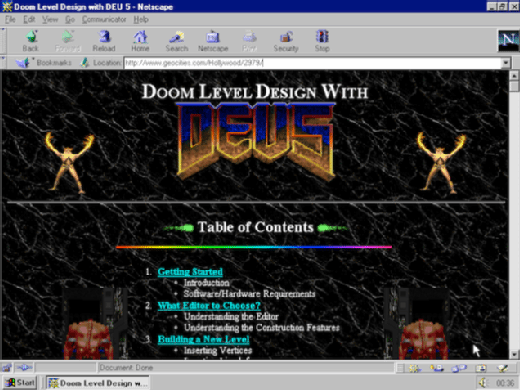 GeoCities: A NCLC platform