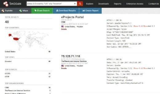 How to run an advanced search in Shodan