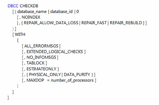 MAXDOP for DBCC CHECKDB
