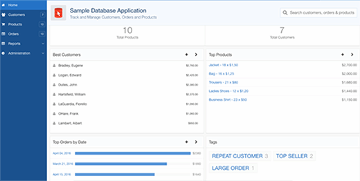 Sample database application