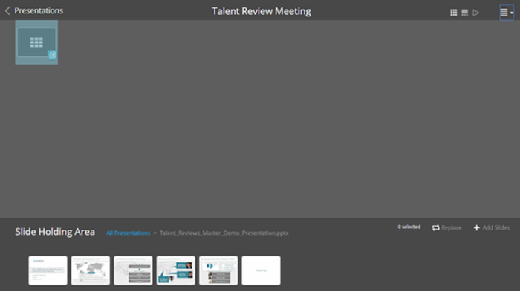 SuccessFactors Talent Review Meeting