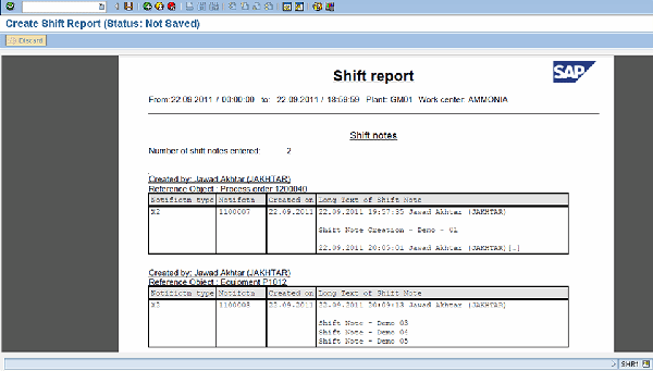 Tap into SAP Shift Notes Reports for better production visibility – Shift Report Template