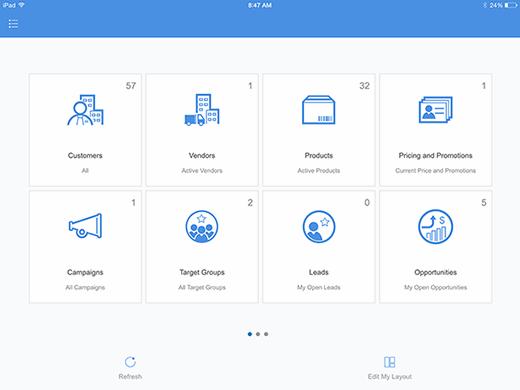 SAP Anywhere customizable landing page