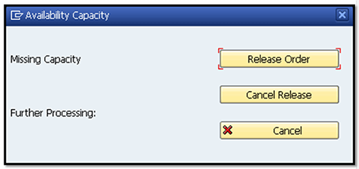 example of SAP availability check for capacity