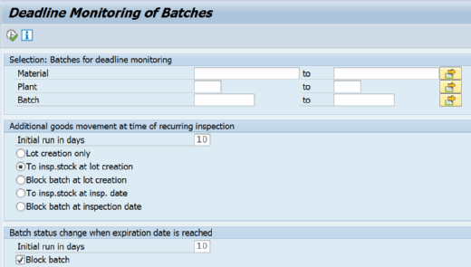 Transaction QA07 in SAP QM