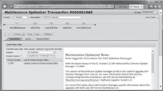 SAP Solution Manager Maintenance Optimizer