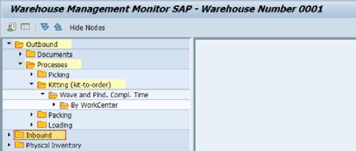 Make-to-order kitting in SAP EWM