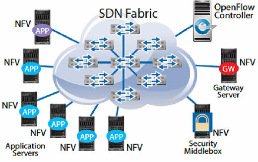 SDN fabric with NFV devices