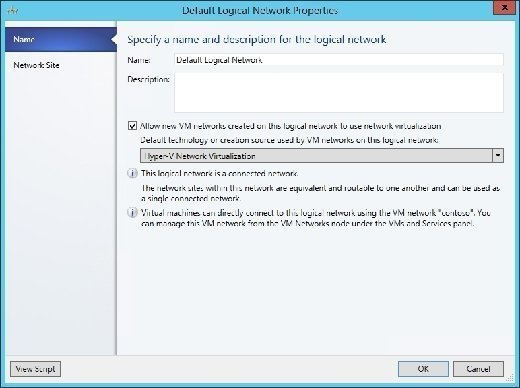 You must allow VM networks to use the logical network
