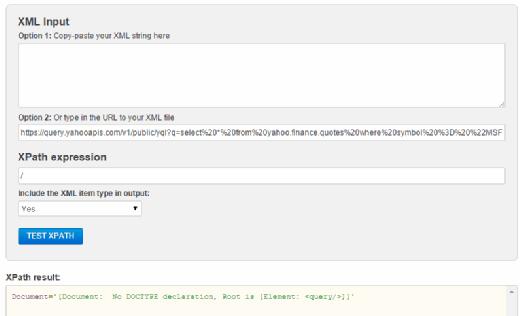 XML input