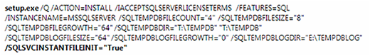 Command-line code