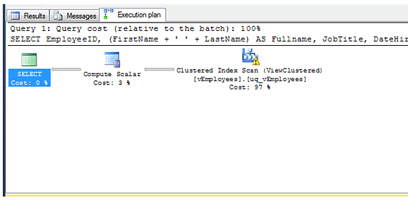 indexed view without base tables