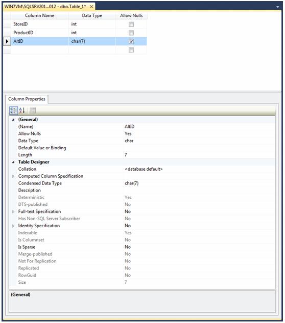 adding properties when adding columns in SSMS Table Designer