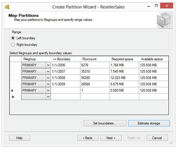 Figure 2: You can use the Create Partition Wizard to map partitions.