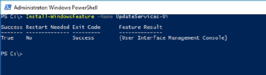 Use PowerShell to install WSUS
