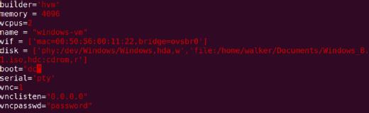 VM configuration file.