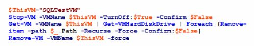 Remove a development VM