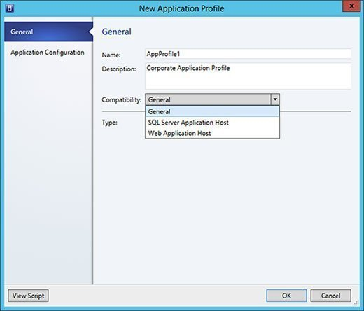 Choosing a compatibility option in an SCVMM.